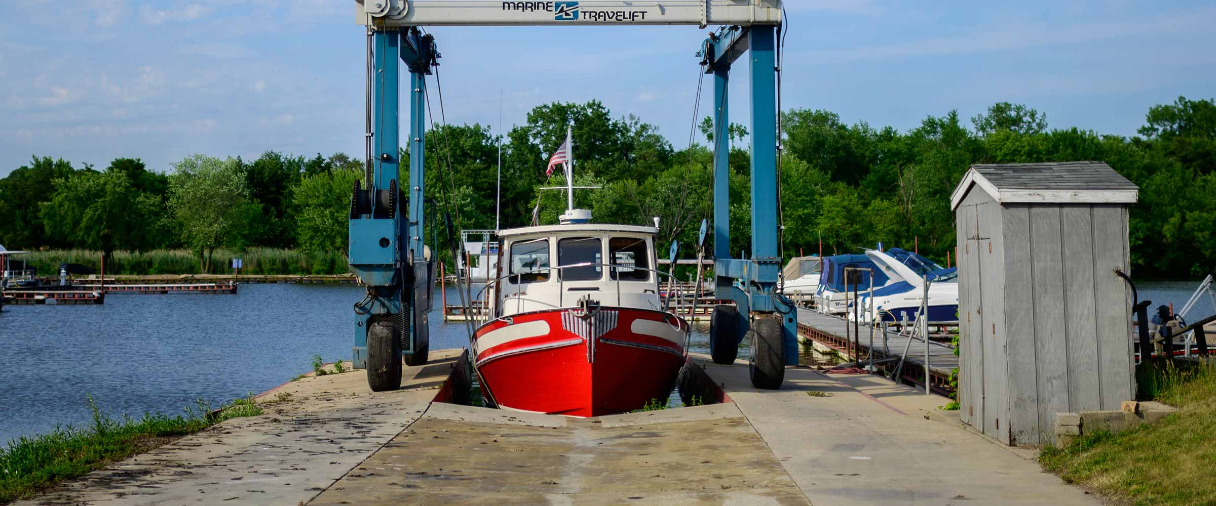 boat about to launch