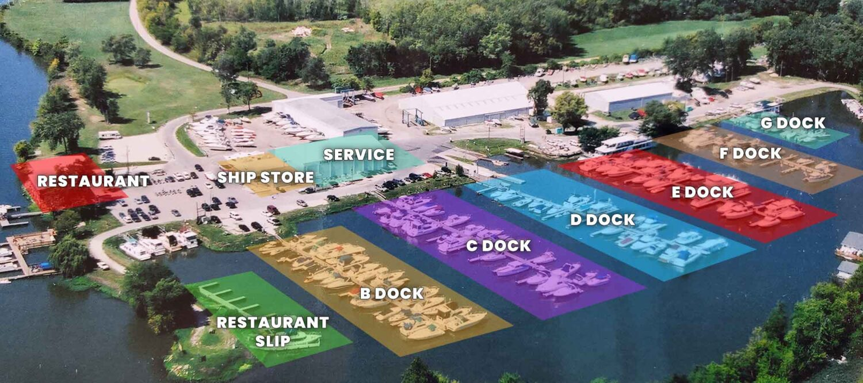 Starved Rock Marina map
